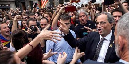 El xenófofo Quim Torra, presidente de la Generalitat de Cataluña.