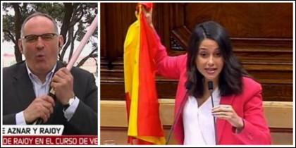 Antón Losada e Inés Arrimadas.