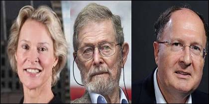 Premio Nobel: Frances Arnold, George Smith y Gregory Winter.