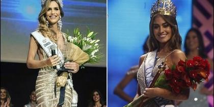 Las Miss colombia Angela Ponce y la Miss española Valeria Morales