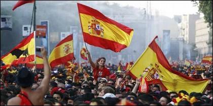 La bandera española.