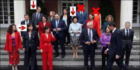 Ministros del Gobierno Sánchez ya caídos o marcados por un pufo.