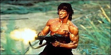 Silvester Stallone como 'Rambo'