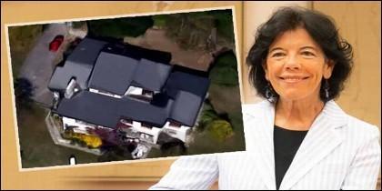 La ministra de Educación y portavoz del Gobierno, Isabel Celaá, y su chalé de 1,55 millones.