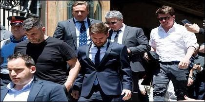 Messi al salir del juzgado
