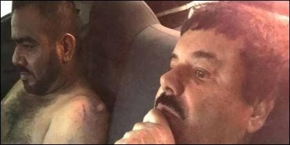 Narcos: el 'Cholo Iván' en el momento de su detención con el Chapo Guzmán.