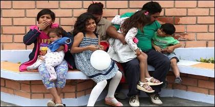 Una familia venezolana que ha emigrado a Perú.