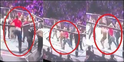 UFC: Cegados por la adrenalina y la furia, dos fanáticos treparon la reja y atacaron al a Conor McGregor.