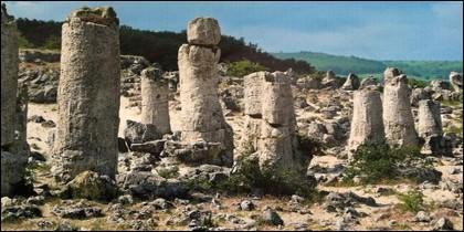 Columnas rocosas o Pobiti kamani, en Bulgaria
