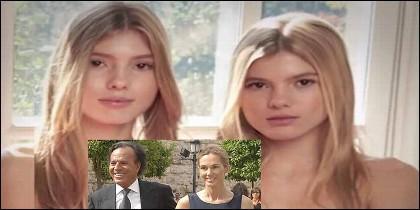 Victoria y Cristina, las hijas gemelas de Julio Iglesias y Miranda Rijnsburger.