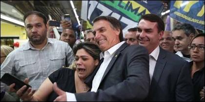 Jair Bolsonaro (PSL) celebra su victoria en Brasil.
