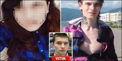 Los asesinos caníbales y su víctima