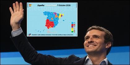 Pablo Casado (PP) y la encuesta electoral a 8 de octubre de 2018.
