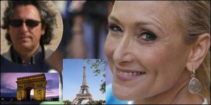 Francisco Javier Aguilar Viyuela, la Torre Eiffel, el Arco de Triunfo de París y Cristina Cifuentes.