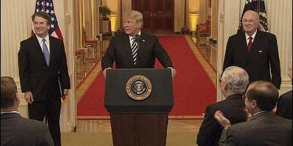 Donald Trump y Brett Kavanaugh