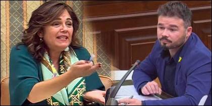 Beatriz Escudero (PP) llama imbécil a Gabriel Rufián (ERC).
