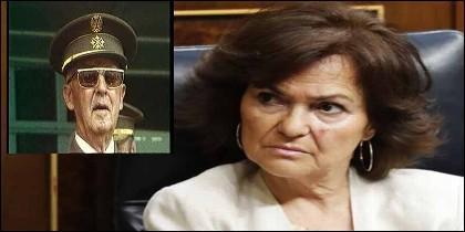 Francisco Franco y Carmen Calvo (PSOE).