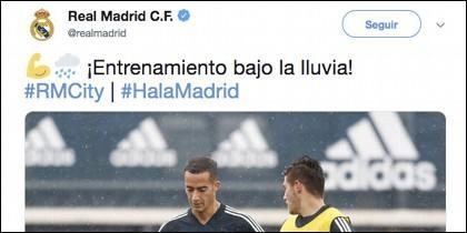 Tuit del Real Madrid