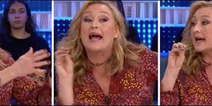 Elisa Beni gritando como modo de vida.