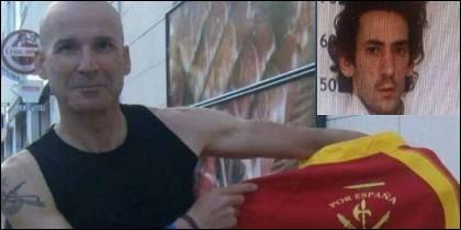 El agente de la Guardia Civil José Manuel Arcos Sánchez, muerto en acto de servicio y el homicida, ya detenido.