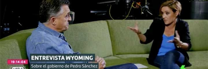 El Gran Wyoming, entrevistado por Cristina Pardo en 'Liarla Pardo'.