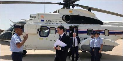 Pedro Sánchez y el helicóptero.