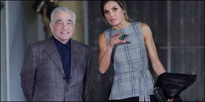 La Reina Letizia con Martin Scorsese.