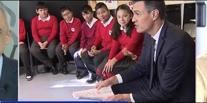 Simancas, Pedro Sánchez en un colegio y Susanna Griso.