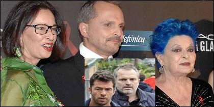 La familia de Miguel Bosé y su expareja Nacho Palau.