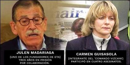 Los exetarras Julen Madariaga y Carmen Guisasola.