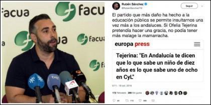 Rubén Sánchez y su 'defensa' de la educación pública andaluza.