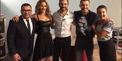 Jesús Vázquez, junto a otros presentadores de Mediaset.