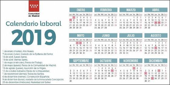 Espa a el calendario laboral de 2019 ya es oficial y solo permite un gran puente festivo - Horario oficina seguridad social ...