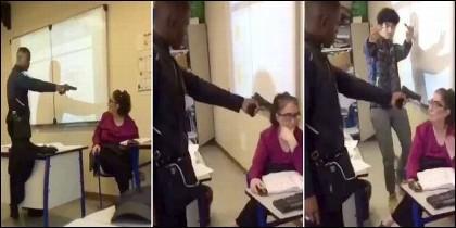 El estudiante de 16 años amenaza a la profesora con una pistola en el el Liceo Edouard-Branly de Créteil (FRANCIA).