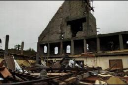 Así quedó la iglesia de Sainte Marceline de Minkan en Odza, Yaundé