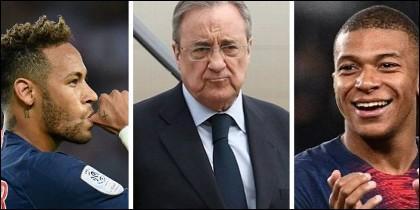 Neymar, Mbappé y Florentino