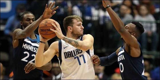 NBA: Luka Doncic fue el mejor de los Maveriks en la victoria ante los Wolves.