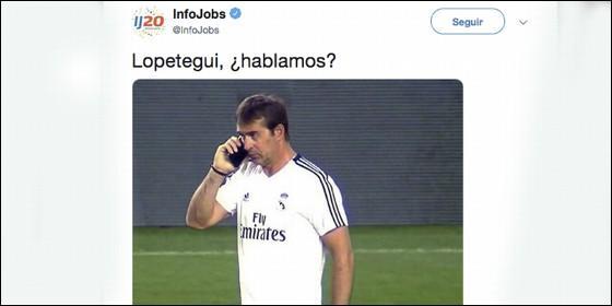 InfoJobs y Lopetegui