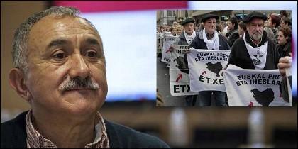 Pepe Álvarez, Secretario General de UGT, y su apoyo a los terroristas de ETA presos.