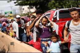 La caravana migrantes que se dirige de Centroamérica a Estados Unidos
