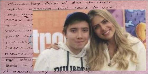 La carta de Daniel Osorio a su madre, anunciando que se va a suicidar.
