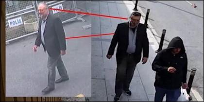 El doble de Jamal Khashoggi salió del consulado con su ropa, gafas y una barba postiza.