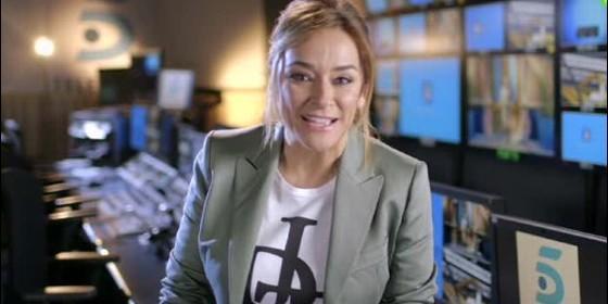 Toñi Moreno, en la realización de Telecinco.