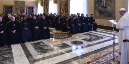El Papa, con los pasionistas