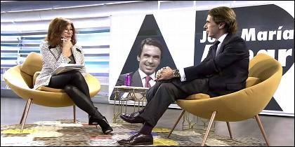 El expresidente José María Aznar en el 'Programa de Ana Rosa'.