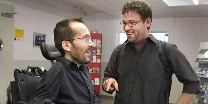 Pablo Echenique y Albano Dante-Fachín... dientes, dientes.