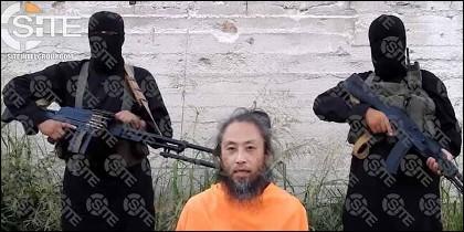 El periodista japonés Jumpei Yasuda, secuestrado por terroristas islámicos.