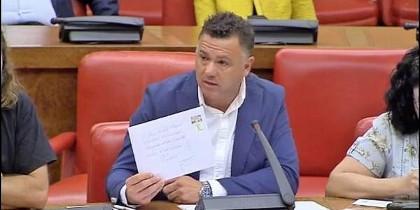 Juan Antonio Delgado, diputado de Podemos por Cádiz en una comisión