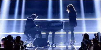Pablo López y Miriam en 'OT'