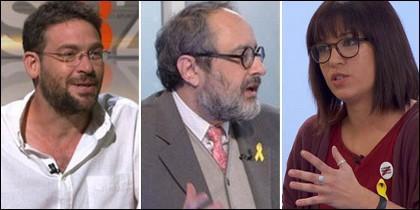 Albano-Dante Fachín, Antonio Baños y Beatriz Talegón.